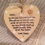 Shabby Personalised Chic Daughter Special Gift Mum.. Any Name Etc